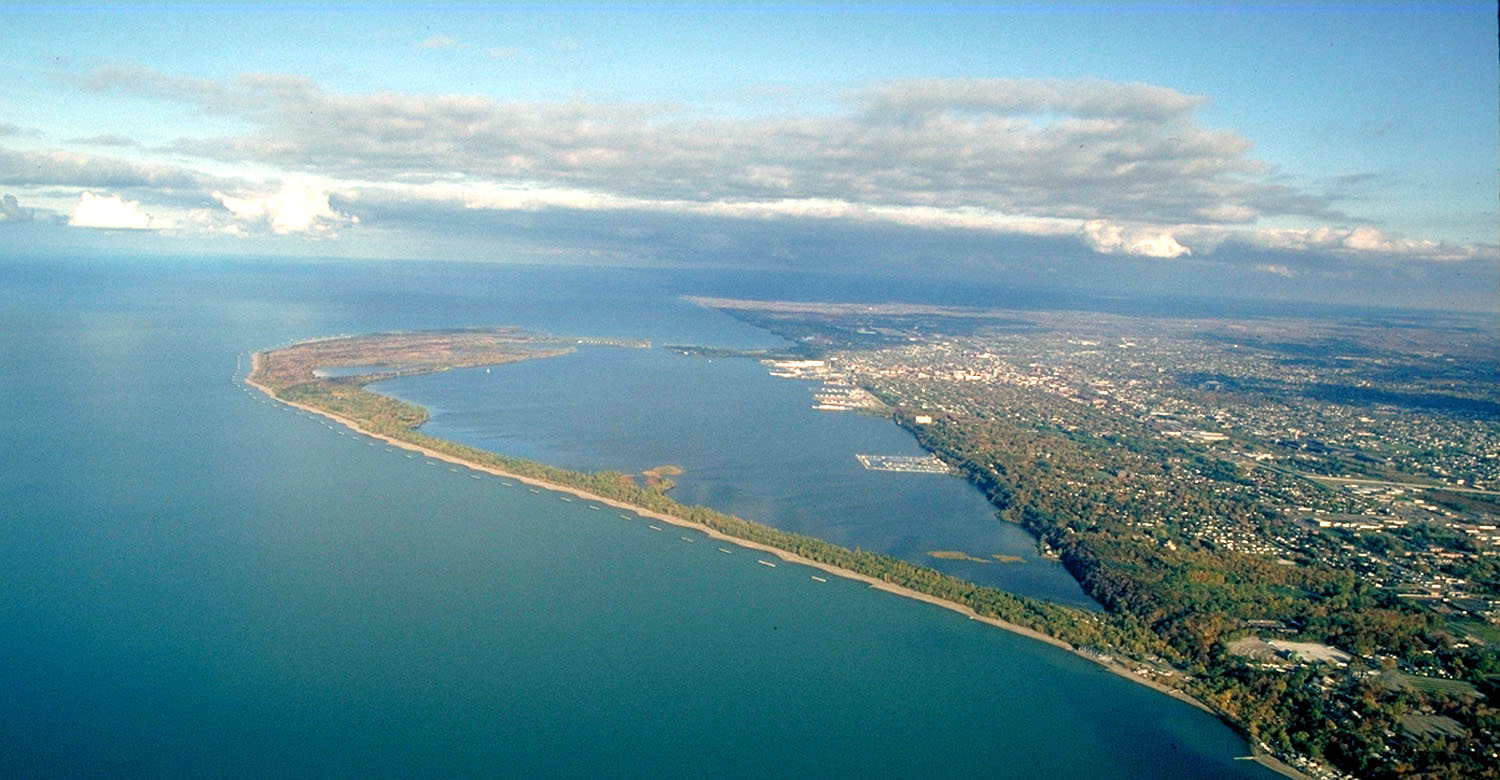 Aerial view of Presque Isle State Park